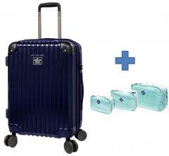 [送收納袋套裝] Hallmark Design Collection Pc Case 4輪行李箱 (藍色)(HM850T)