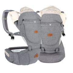 I-Angel - Miracle 4 Seasons Hip Seat Carrier - Light grey(Waterproof)