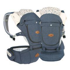 I-Angel - Miracle 4 Seasons Hip Seat Carrier - Melange Blue (Waterproof)