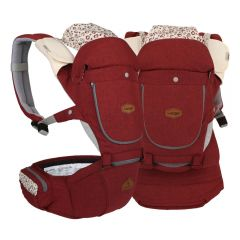 I-Angel - Miracle 4 Seasons Hip Seat Carrier - Melange Red (Waterproof)