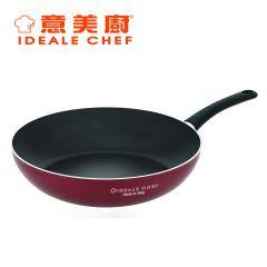 意美廚 - 意大利製 Famosa系列  32厘米易潔單柄炒鍋 玫瑰紅 (IC21532W)
