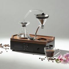 BARISIEUR 智能蒸餾咖啡鬧鐘 (胡桃木 - 黑) CF501