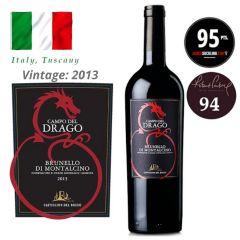 """Castiglion del Bosco - Brunello di Montalcino """"Campo del Drago"""" DOCG 2013 (JS 95) ITCB05-13"""