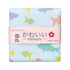 Cotton Essence - Aquarium Gauze-pile Face Towel - White JK-5702