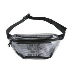 W.P.C. 日本KIU防撥水透明網紋斜背包/腰包 K102-908