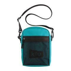 W.P.C. 日本KIU 600D防撥水拉鍊斜背包(藍綠色) K108-917