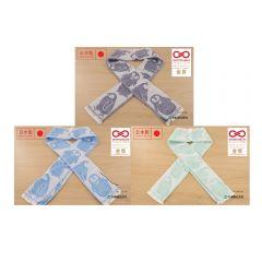 Marushin - [日本製造]企鵝Eco De®接觸冷感毛巾(連保冷劑) (深藍色/藍色/薄荷綠色)