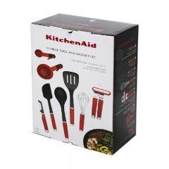 KitchenAid - 15PC Tool and Gadget Set(Empire Red) KO447BXERI