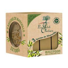 小橄欖樹 馬賽橄欖油潔膚皂 3X100G LEO-SP-013