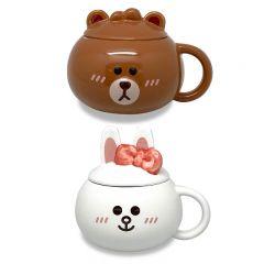 LINE FRIENDS - 3D Ceramic Mug 380ml(Mini Brown/Mini Coyn) LF-CM-380-MO