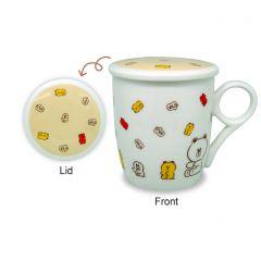LFC12444 LINE FRIENDS - 330毫升陶瓷杯連蓋