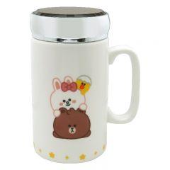 LINE FRIENDS - Ceramic Mug with Mirror Lid 390ml LFC12464