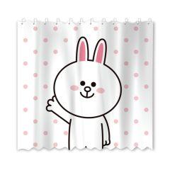 Line Friends - 兔兔浴簾180x180厘米