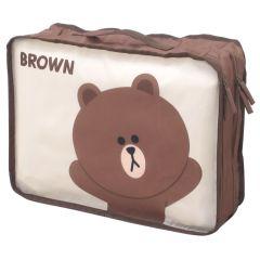 Line Friends - 熊大雙層旅行儲物袋(小)