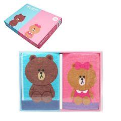 Line Friends - 熊大及熊美手巾套裝 LFF11895