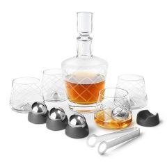 Final Touch - 威士忌水晶酒杯及醒酒器套裝(4隻杯連不鏽鋼冰球) LFG32115
