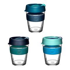 KeepCup - Brew Tempered Glass Cup M/12oz/340ml (Australis/Borealis/Polaris) LGKC-BAUS-MO