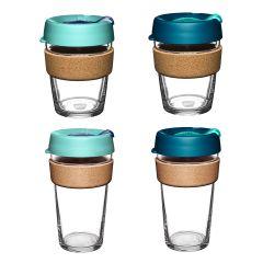 KeepCup - Brew Cork Tempered Glass Cup (12oz/16oz) - (Australis/Polaris) LGKC-BCAUS-MO