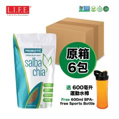 Salba Chia - PROBIOTIC Salba Chia Premium Ground (Free 600ml BPA-free Sports Bottle) LIFE_SCPX6
