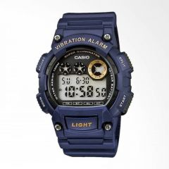 CASIO - Vibration Alarm手錶深藍 W-735H