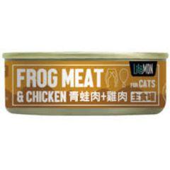 Litomon - 貓用野味系列主食罐 - 青蛙與雞肉(82g)x 3 litomon-wild-frog