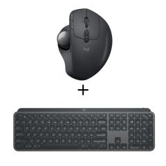 Logitech - MX Ergo Wireless Trackball Mouse + Logitech - MX Keys Wireless Keyboard Logi005180_009418