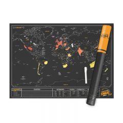 Luckies - Scratch Map® Original - Black LUKCHALM