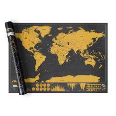 Luckies - Scratch Map® Deluxe - Black LUKSD