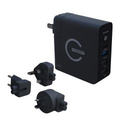 [送USB-C to A+C 2-in-1 1米線]EGO - E-Fusion 三合一旅行充電器 (PD x QC 行動電源 + 10W 無線充電 + 旅行轉插充電器)
