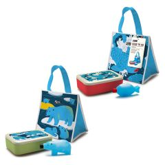 Monkey Business - Good To Go Lunch Set (Blue Bear/Blue Fish) MB6824-25