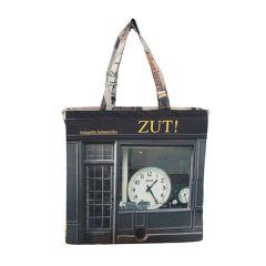 MBJPARECAGE102 Maron Bouillie 巴黎傳統老店圖案手提袋 (大) - Zut ! 鐘錶店