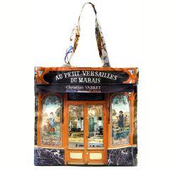 MBJPAREMICA20 Maron Bouillie 巴黎傳統老店圖案手提袋 (小) - Versailles 麵包店