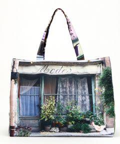 MBJPRCB08 Maron Bouillie 法國南部普羅旺斯風景圖案手提袋 (大) - 紫色