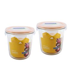 Glasslock - (Made in Korea)Round Food Container 720ml 2pcs MCCD-072-BR