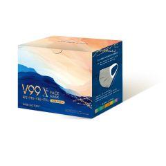 口罩工廠 - V99 X 成人口罩 (10色)  (彈性不織布耳帶)