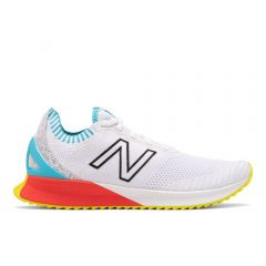 New Balance Mens Fuelcell Echo White with Bayside & Energy Red