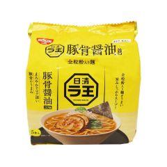 日清拉王豬骨醬油味拉麵-5包裝 500克 (1件/3件) (平行進口貨品)