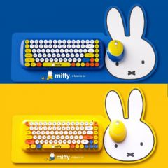 miffy - 無線鍵盤滑鼠套裝 MPC-001 (藍色 / 黃色) MIF03_all
