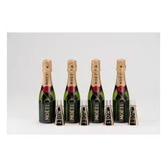Moet & Chandon - Mini Brut Imperial 20cl Party Set (4 btls + 4 flutes) MINIMOET_PS_4F