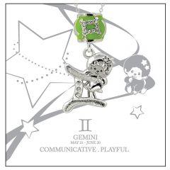 Monchichi Star Sign 系列星座項鏈禮盒裝 - 雙子座
