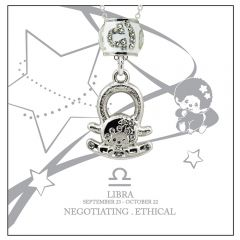 Monchichi Star Sign Necklace Giftbox - LIBRA MO-NEC107-LIB
