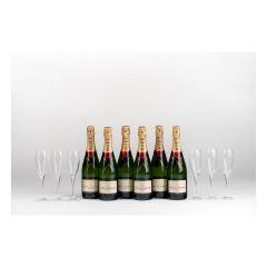 Moet & Chandon -  Brut Imperial 75cl Party Set (6 btls + 6 Glasses) MOET_PS_6G