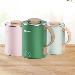 Mokkom - Multi-functional Electric Heating Cup - Upgrade version with tea infuser (Light Green / Green / Pink)  mokkom_MK387_all