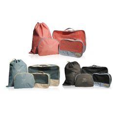 MONOCOZZI - Bon Voyage | 摺疊旅行收納袋 4 合 1 套裝 (小衣物收納袋,大衣物收納袋,鞋袋,拉鏈小袋)(3色)