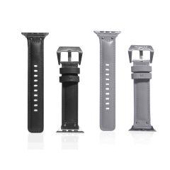 MONOCOZZI - Exquisite 高級厚身真皮 Apple Watch 錶帶 42-44mm (炭灰色/淺灰色) MONO-ES-MSTL