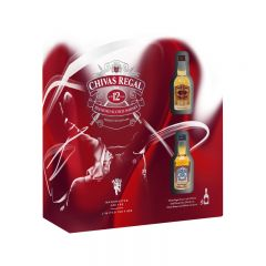 Chivas 12年蘇格蘭威士忌套裝 (送2支酒辦) MOOV-CHIVAS12-SET