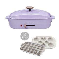 Gemini - 多功能電煮食鍋連額外兩款煮食燒盤 GMC12V1 + GMC12-V2 MOOV-GMC12V1_12-V2