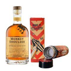 Monkey Shoulder 金猴麥芽威士忌 700ml x 1支 (送雞尾酒子彈調酒器 x 1個) MOOV-MonkeyS