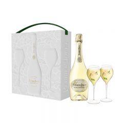 巴黎之花白中白香檳禮盒 (連2杯) MOOV-PJ-BDB-SET