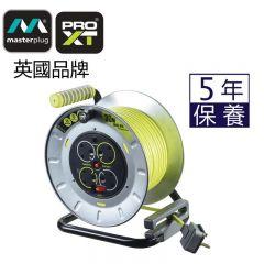 英國Masterplug - 4 X 13A 30米金屬拖轆  PRO-XT OTMU30134SL
